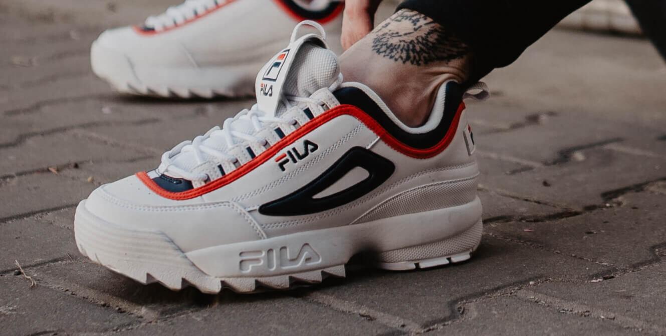 Fila Buty Disruptor Low Czerwone buty sportowe lifestyle