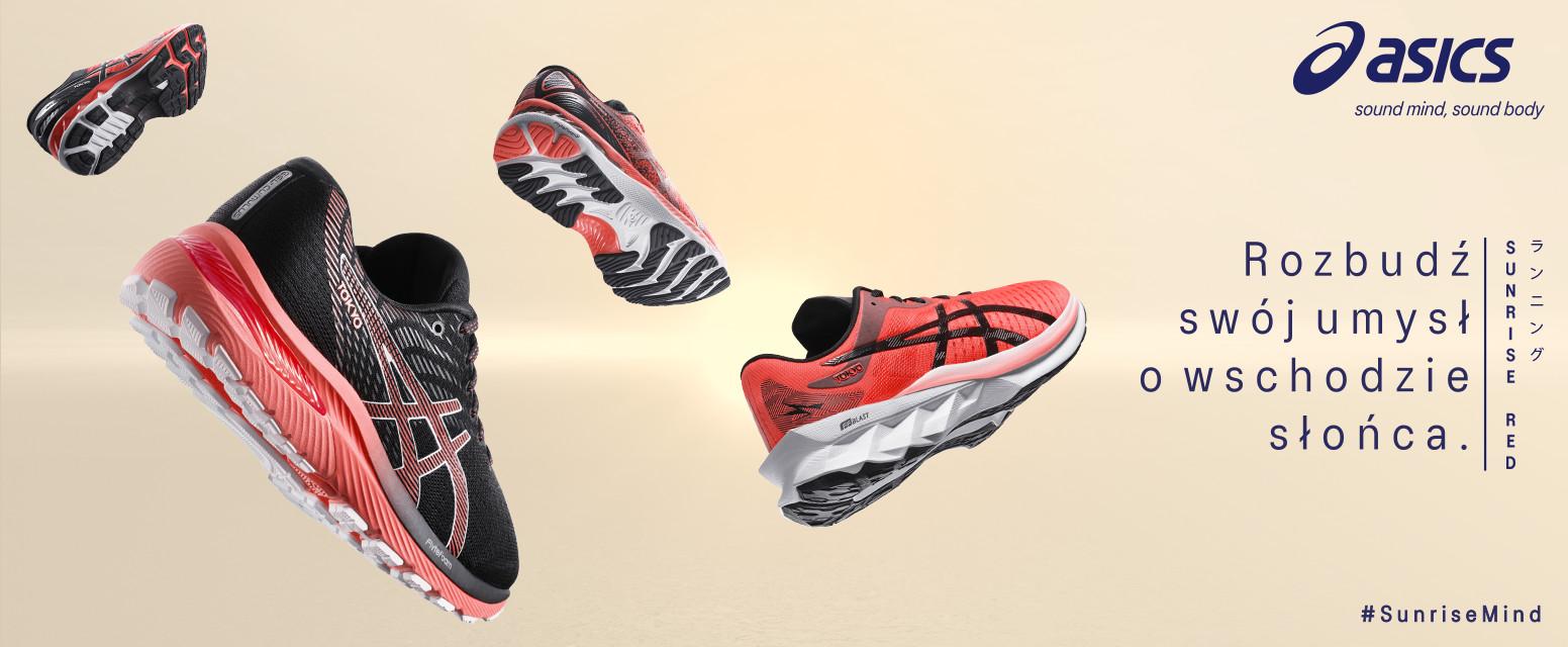 najlepsze buty biegowe sunrise red