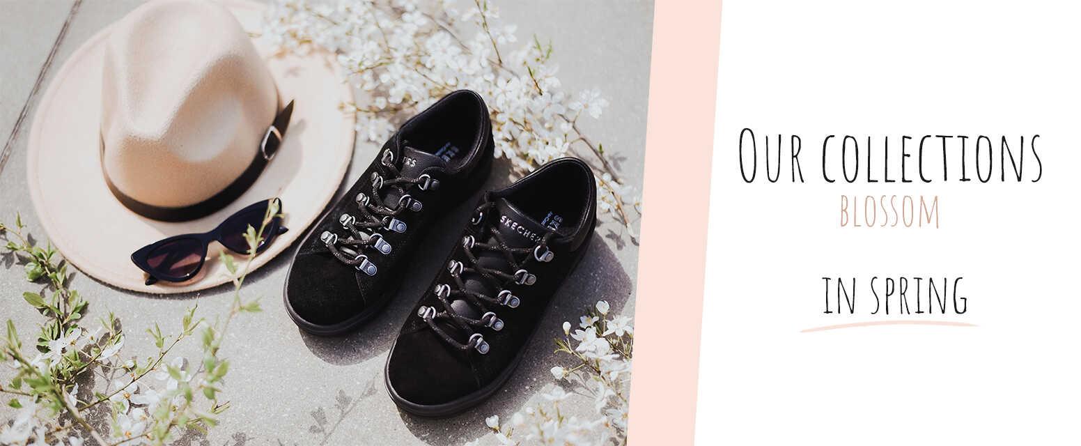 black skechers sneakers for women