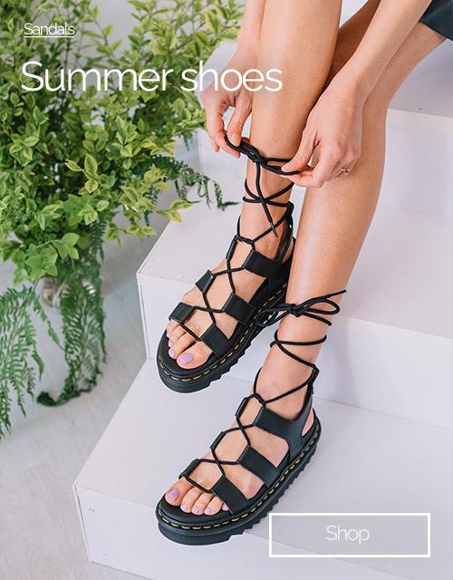 dr.martens black sandals