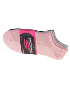 damskie Skechers 3pk Womens Super Stretch Socks S101720-PKNV 001