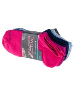 damskie Skechers 6pk Womens No Show Socks S114230-MULT 001