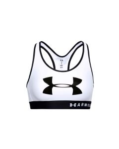 damskie Under Armour Mid Keyhole Graphic Bra 1344333-100 001